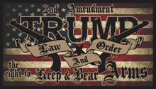Load image into Gallery viewer, TRUMP 2020 LAW & ORDER 2nd AMENDMENT GUNS 4x6 and 5x8 FLAG