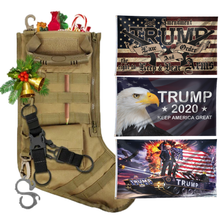 Load image into Gallery viewer, Christmas Tactical Stockings with Three 3x5' Flags - Bundle D