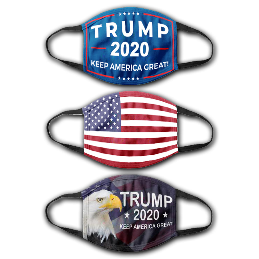KAG Flag - USA Flag - Trump American Eagle - Face Cover Bundle