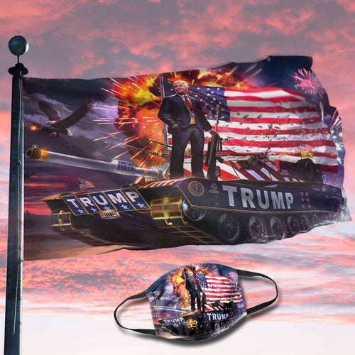 Donald Trump Rare Tank Flag (NEW BUNDLE)