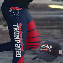 Load image into Gallery viewer, Pre-Release Limited Edition Trump 2020 KAG - Leggings - USA Colorway + Trump Keep America Great 2020 Hat