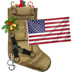 Tactical Xmas Stocking - Family Xmas Stockings with 3x5' United States of America American Flag Flag