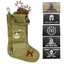 Load image into Gallery viewer, Tactical Christmas Stocking + 5 Pcs 2A Embroidered Tactical Clothing Patch