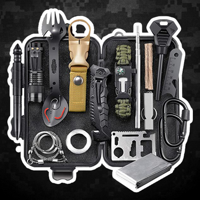 Survival Gear Kit, Emergency EDC Survival Tools 24 in 1 SOS Earthquake Aid Equipment