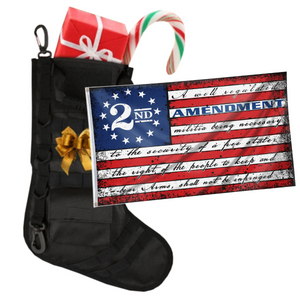 Tactical Xmas Stocking with 3x5' 2nd Amendment Vintage American Flag