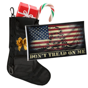 Tactical Xmas Stocking with 3x5' Don't Tread On Me USA Flag