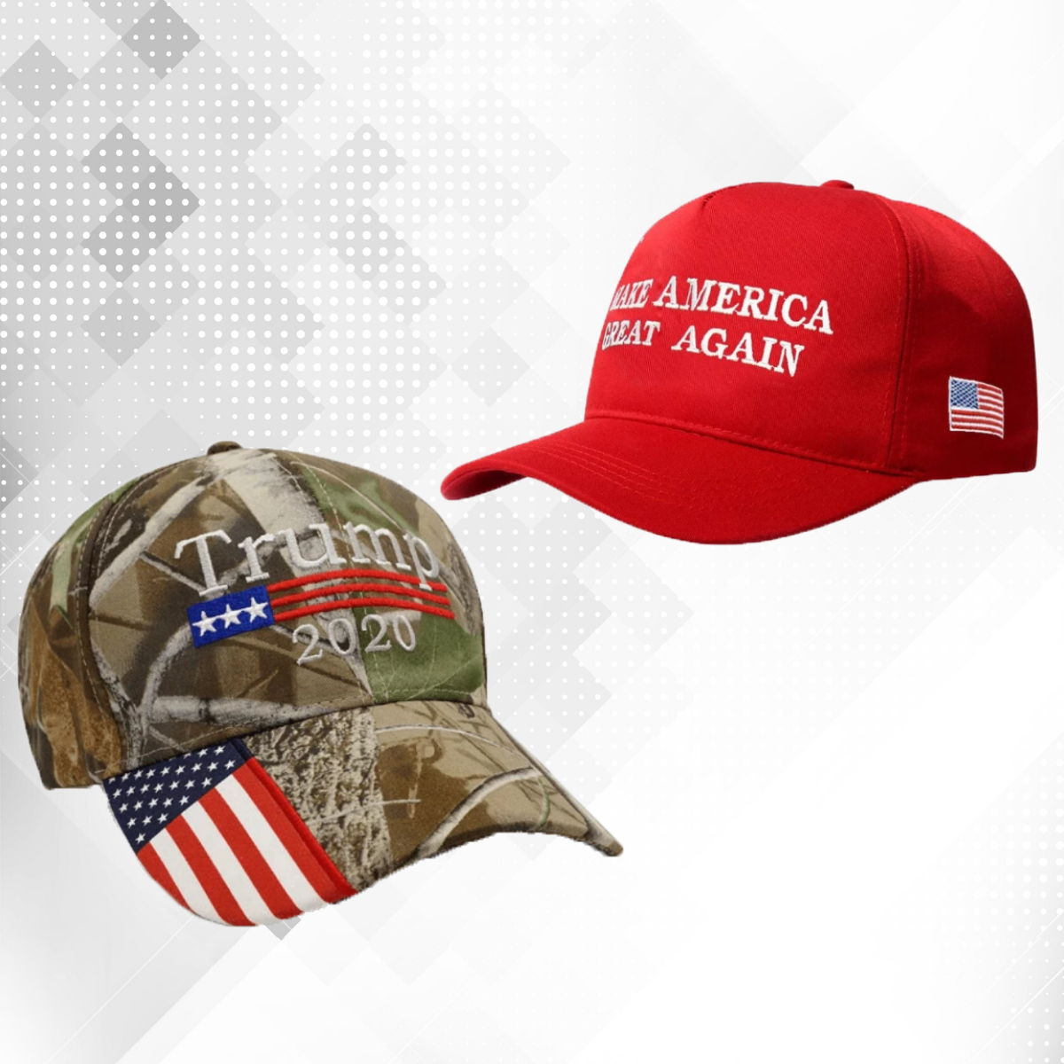 Red Donald 2020 Trump Hat Keep America Great MAGA Hat Camo Embroidered Cap AW