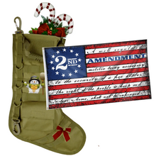 Load image into Gallery viewer, Tactical Xmas Stocking with 3x5' 2nd Amendment Vintage American Flag