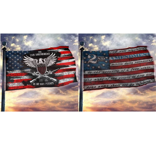 Defend the Second 2nd Amendment 2-Pack Flag Bundle