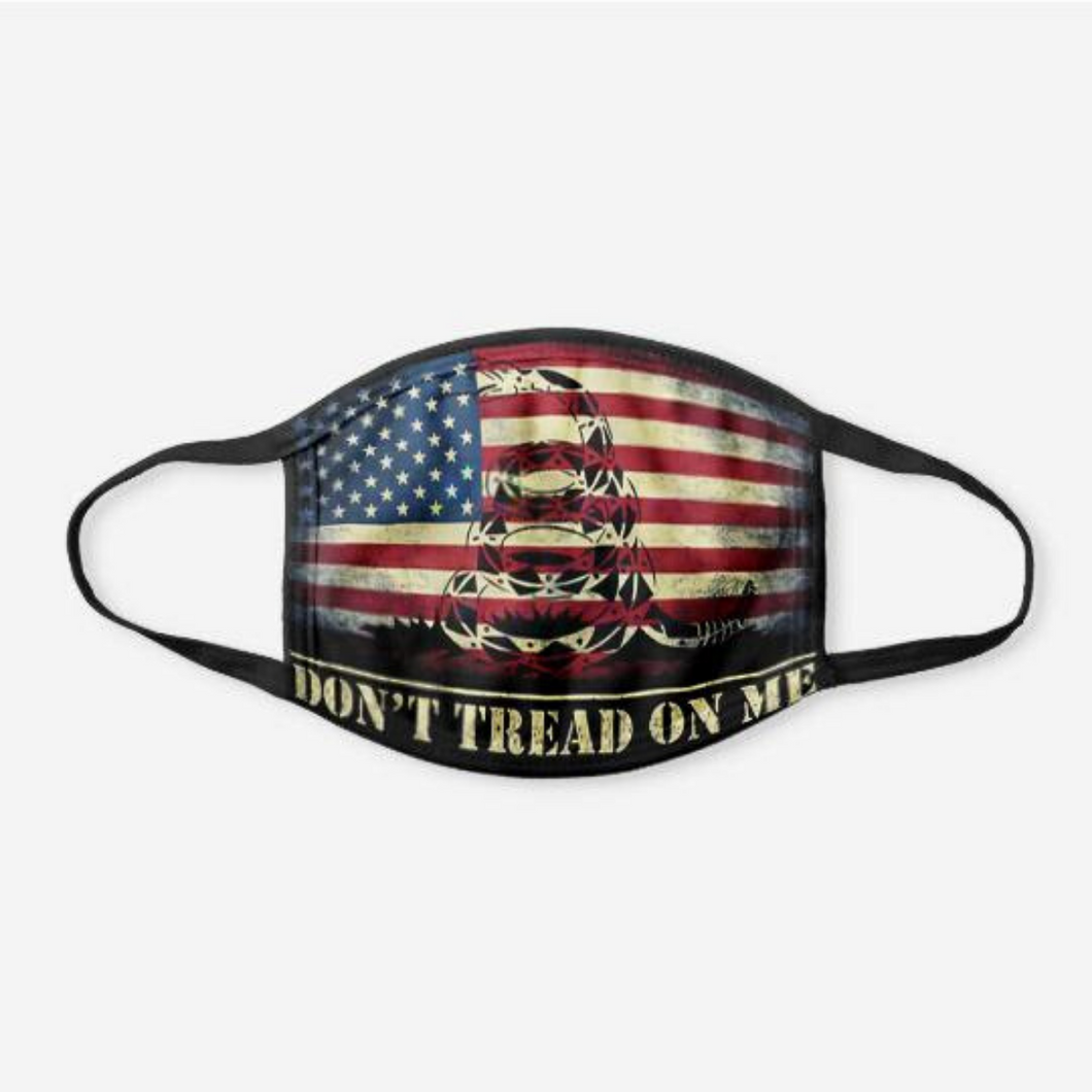 DTOM USA Flag Face Cover + Trump Punisher Pin Bundle