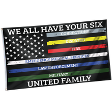 Load image into Gallery viewer, We All Have Your Six United Family Shirt w/ Free Matching 3x5 Flag