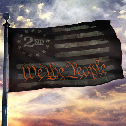 We The People - Camo Orange - 2nd Amendment Flag