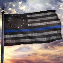Load image into Gallery viewer, Thin Blue Line Betsy Ross Flag - Blue Lives Matter Flag