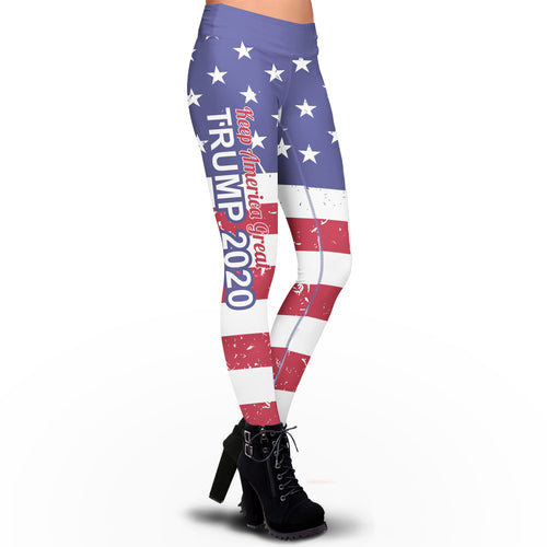 Pre-Release Limited Edition USA Flag Trump 2020 KAG - Leggings - USA Colorway