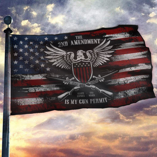 It's My Gun Permit - 2nd Amendment Flag