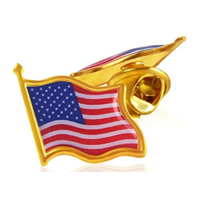 American Flag Enamel Lapel Pin - Gold 5 Pack Combo Deal