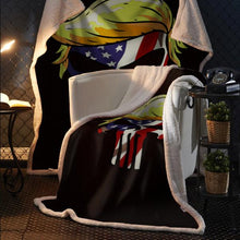 Load image into Gallery viewer, Punisher Trump USA Sherpa Blanket 50x60 + Free Matching 3x5 Single Reverse Flag