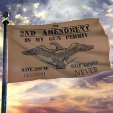Load image into Gallery viewer, 2nd Amendment My Gun Permit Brown 3x5 Flag