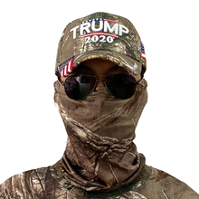 Load image into Gallery viewer, Camouflage Neck Gaiter for Men and Women + Donald Trump 2020 Keep America Great Camo Hat Bundle