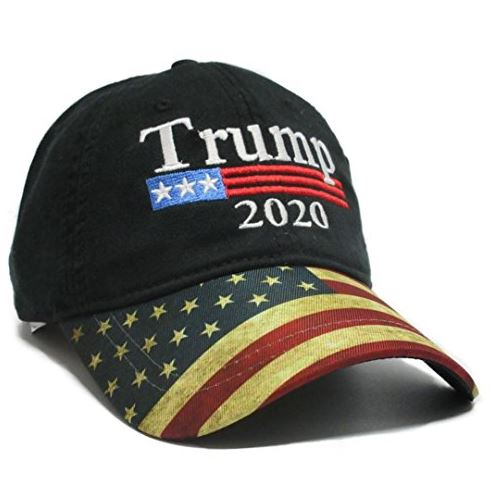 Trump 2020 Hat - Flag Bill