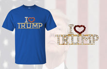 Load image into Gallery viewer, I Love Trump Shirt w/ I Love Trump Pin Combo Deal