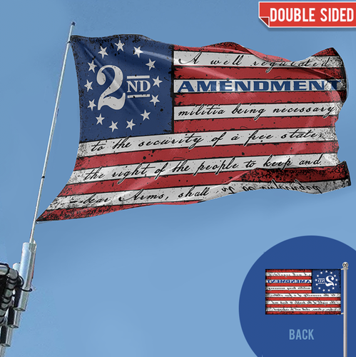 **PREMIUM DOUBLE-SIDED** This Well Defend 2nd Amendment Vintage American Flag