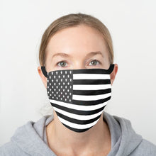 Load image into Gallery viewer, American Flag Face Cover - Black & White