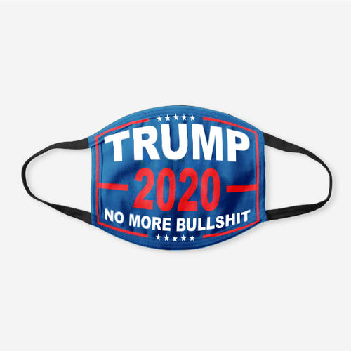 Limited Edition Trump Flags - No More Bull***t 2020 Flag Face Cover
