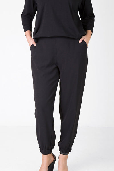 Cuffed Pull on Pant (Black),,