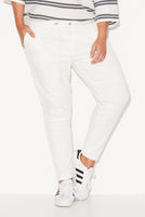 FINKS PANEL JOGGERS - WHITE,,
