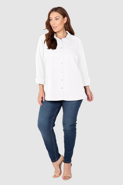 The Manhattan Cotton Overshirt (White),,