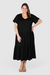 Lana Knit Tiered Dress - Black, Love Your Wardrobe, women's plus size dresses