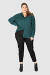 Phoebe Peached Over-shirt - Forrest, Love Your Wardrobe, women's plus size shirts