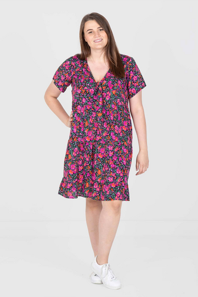 Teagan Tiered Volume Dress - Floral Print, Love Your Wardrobe, women's plus size dresses