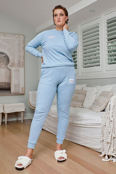 Comfort Queen - Top and Pant Separates - Sky Blue