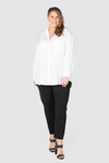 Phoebe Peached Over-shirt - White, Love Your Wardrobe, women's plus size shirts