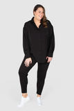 Phoebe Peached Over-shirt - Black, Love Your Wardrobe, women's plus size shirts