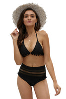 Petal Black Swimwear Set, Bras By S, women's plus size swimwear