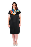 DRESS MID-LENGTH - MIDNIGHT BLACK, Coral & Co, Coral and Co, women's plus size dress