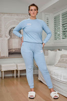 Comfort Queen - Top and Pant Separates - Sky Blue, Monica The Label, women's plus size loungewear
