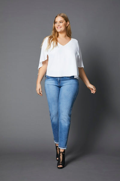 TEMPT VINTAGE WASH NARROW JEAN, Embody Women, Embody Denim, women's plus size jeans