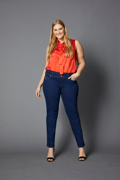 TEMPT INDIGO NARROW JEAN, Embody Women, Embody Denim, women's plus size jeans
