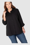 The Manhattan Cotton Overshirt (Black),,