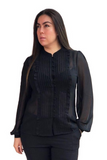 Primrose Pleated Blouse - Black