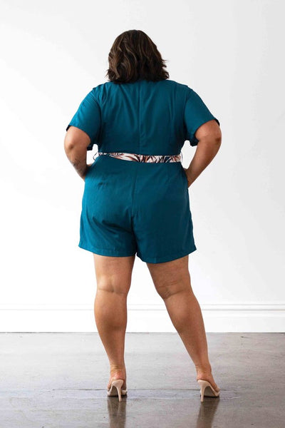 Havana Playsuit - Teal,,