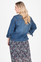 High Street Stretch Denim Jacket (Indigo),,