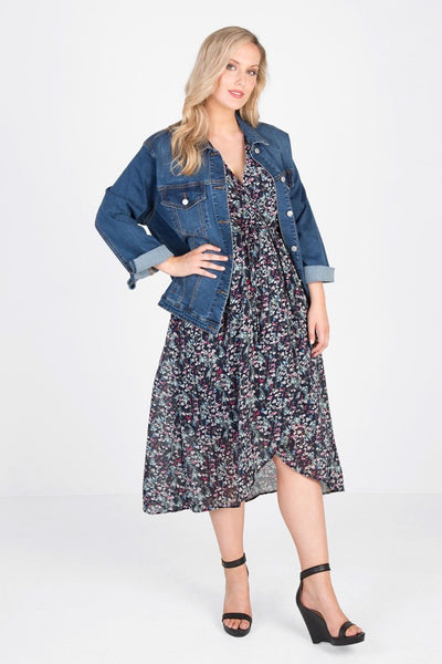 High Street Stretch Denim Jacket (Indigo), Love Your Wardrobe, women's plus size jacket