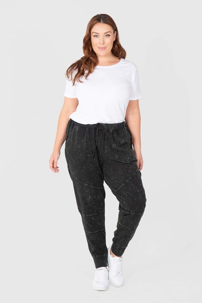 Weekender Washed Pant (Black), Love Your Wardrobe, women's plus size pants