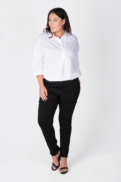 Jet Black Stretch Jean - Black, Love Your Wardrobe, women's plus size jeans