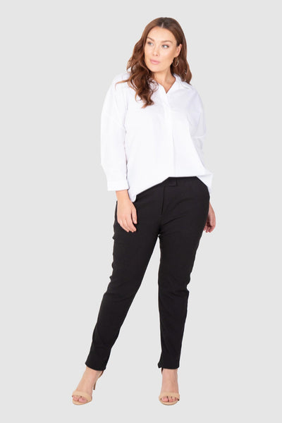 Stretch Bengaline Pants - Black, Love Your Wardrobe, women's plus size pants